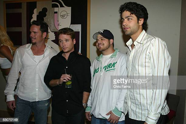 Kevin Dillon Kevin Connolly Jerry Ferreraand Adrian Grenier cast of the HBO TV hit comedy series Entourage attend the Palms Casino Resort unveiling...