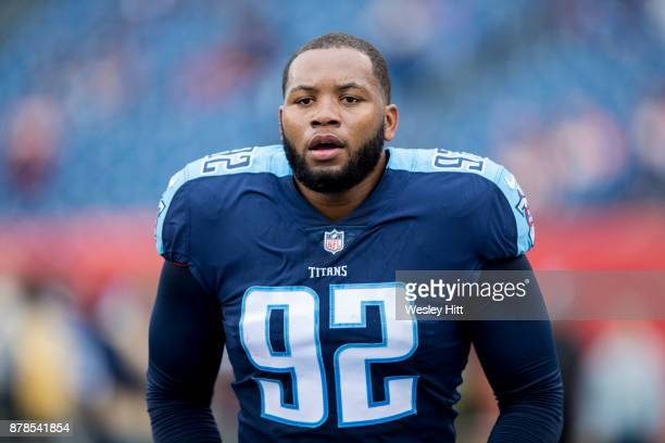 130a156df Kevin Dodd of the Tennessee Titans warming up before a game against the  Cincinnati Bengals at
