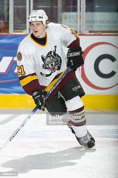 Kevin Doell of the Chicago Wolves skates against the Peoria Rivermen at Allstate Arena on December 11 2005 in Rosemont Illinois The Wolves won 41