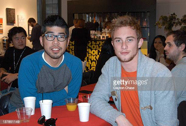 Kevin Donahue and Maxwell Donahue attend the Programmer's Pancake Breakfast during the 2012 Sundance Film Festival on January 28 2012 in Park City...