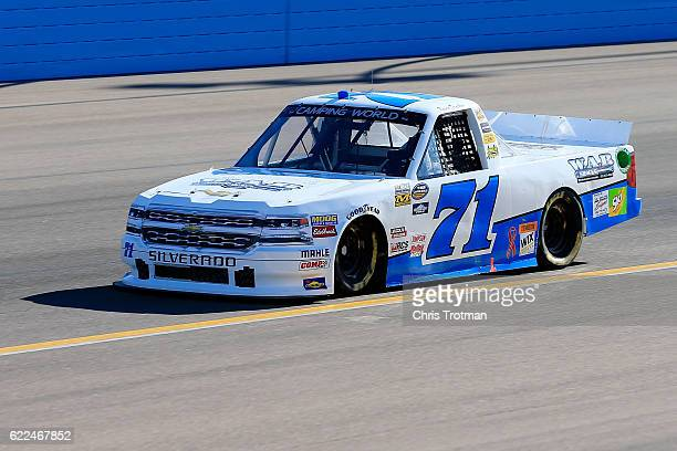 Kevin Donahue driver of the Chevrolet practices for the NASCAR Camping World Truck Series Lucas Oil 150 at Phoenix International Raceway on November...