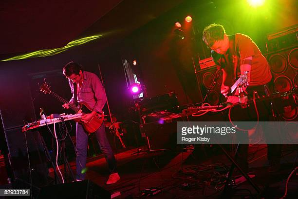 Kevin Doria and Joe Denardo of Growing performs onstage during the ATP New York 2008 music festival at Kutshers Country Club on September 20, 2008 in...