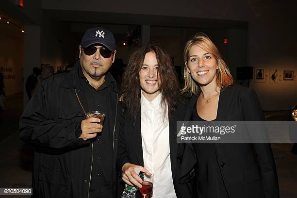 Kevin Dornan Kate Simon and Liz Leavitt attend An Evening of Photography To Benefit CITY HARVEST at Skylight Studios on September 18 2008 in New York...