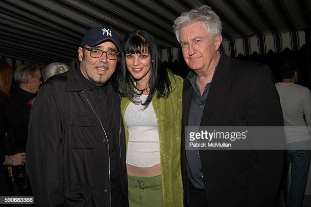 Kevin Dornan Pauley Perrette and Stephen Saban attend Bryan Rabin Birthday Party at Chateau Marmont on March 5 2005 in West Hollywood California