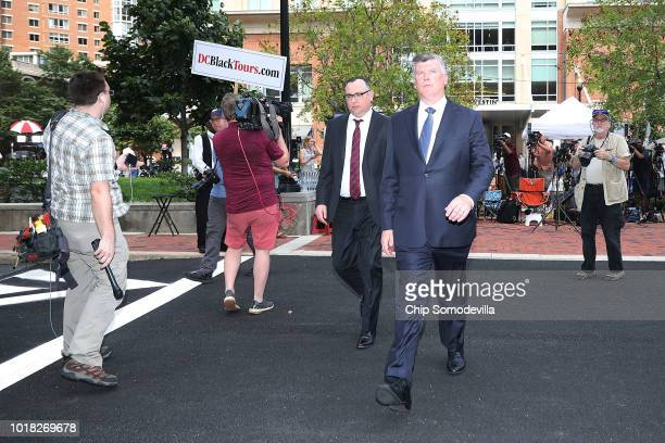 Kevin Downing and Brian Ketcham attorneys for former Trump campaign chairman Paul Manafort walk back to the Albert V Bryan US Courthouse during the...