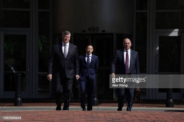 Kevin Downing and Thomas Zehnle attorneys for former Trump campaign chairman Paul Manafort arrive at Albert V Bryan United States Courthouse October...