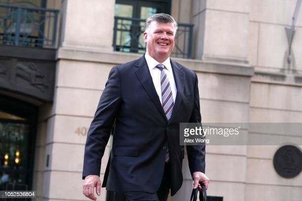Kevin Downing attorney for former Trump campaign chairman Paul Manafort leaves the Albert V Bryan United States Courthouse October 19 2018 in...