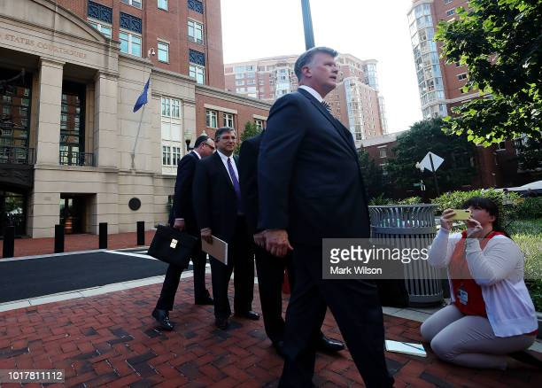 Kevin Downing attorney for former Trump campaign manager Paul Manafort walks out of the Albert V Bryan United States Courthouse after jury...