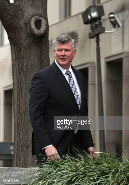 Kevin Downing attorney of former Trump campaign chairman Paul Manafort arrives at a US District Court House November 6 2017 in Washington DC Manafort...