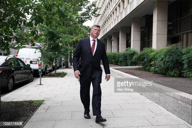 Kevin Downing attorney of former Trump campaign chairman Paul Manafort leaves US District Courthouse after a pretrial hearing September 14 2018 in...
