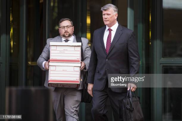 Kevin Downing attorney to Lev Parnas and Igor Fruman right exits the US District Courthouse in Alexandria Virginia US on Thursday Oct 10 2019 A...