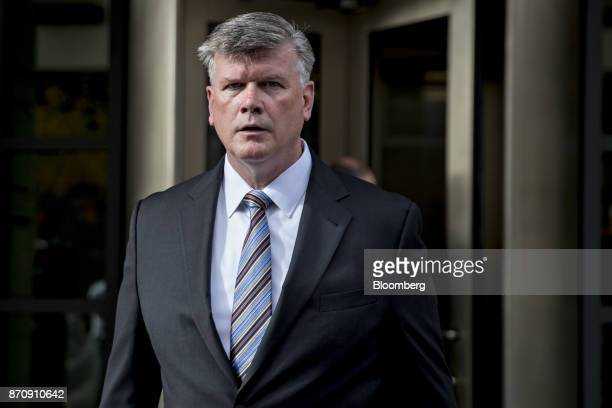Kevin Downing lawyer for Donald Trump's former campaign manager Paul Manafort walks out of the US Courthouse after a bond hearing in Washington DC US...