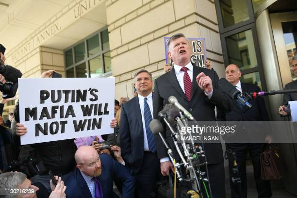 Kevin Downing lawyer for former Trump campaign chairman Paul Manafort speaks at the US District Court in Washington DC on March 13 2019 President...