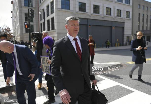 Kevin Downing lawyer for former Trump campaign chairman Paul Manafort leaves the US District Court in Washington DC on March 13 2019 President Donald...