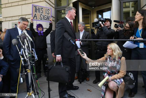 Kevin Downing lawyer for former Trump campaign chairman Paul Manafort speaks to the press as he leaves the US District Court in Washington DC on...