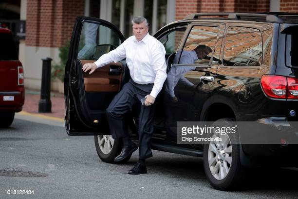 Kevin Downing lead attorney for former Trump campaign chairman Paul Manafort arrives at the Westin Hotel before heading to the Albert V Bryan US...