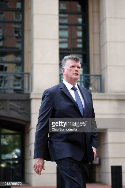 Kevin Downing lead attorney for former Trump campaign chairman Paul Manafort leaves the Albert V Bryan US Courthouse during the second day of jury...