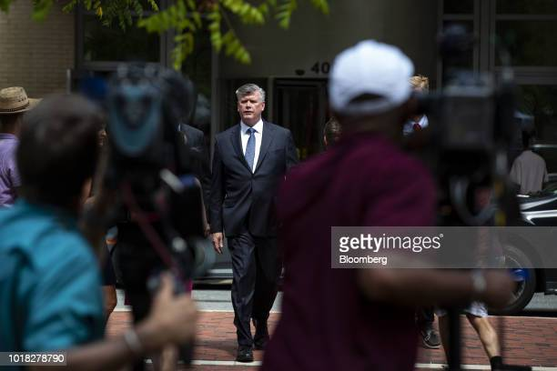 Kevin Downing lead lawyer for former Donald Trump Campaign Manager Paul Manafort exits District Court in Alexandria Virginia US on Friday Aug 17 2018...