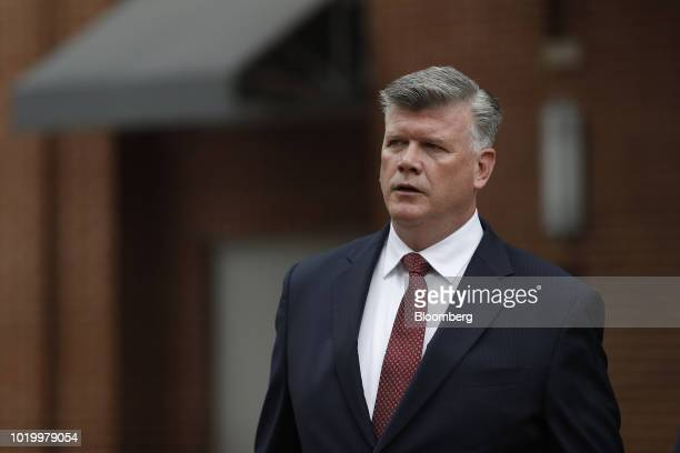 Kevin Downing lead lawyer for former Donald Trump Campaign Manager Paul Manafort arrives to District Court in Alexandria Virginia US on Monday Aug 20...