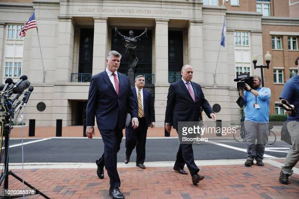 Kevin Downing lead lawyer for former Donald Trump Campaign Manager Paul Manafort from left Richard Westling cocounsel for Manafort and Thomas Zehnle...