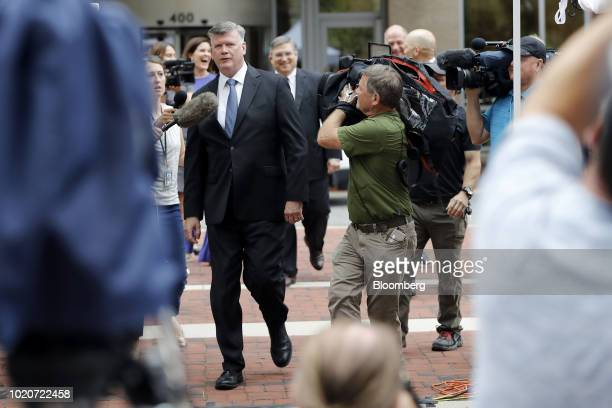 Kevin Downing lead lawyer for former Donald Trump Campaign Manager Paul Manafort speaks to members of the media while arriving at District Court in...
