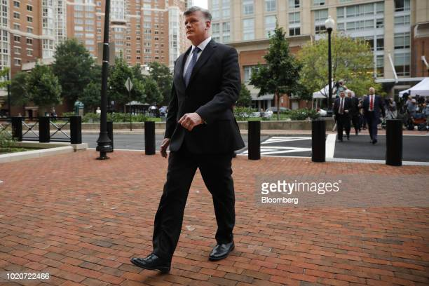 Kevin Downing lead lawyer for former Donald Trump Campaign Manager Paul Manafort arrives at District Court in Alexandria Virginia US on Tuesday Aug...