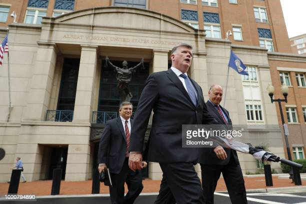 Kevin Downing lead lawyer for former Donald Trump Campaign Manager Paul Manafort center Richard Westling cocounsel for Manafort left and Thomas...