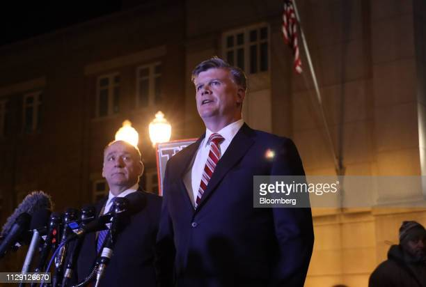 Kevin Downing lead lawyer for former Donald Trump Campaign Manager Paul Manafort speaks at the US District Court in Alexandria Virginia US on...