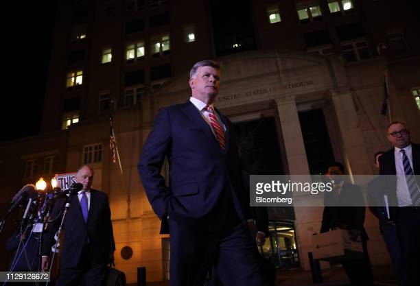 Kevin Downing lead lawyer for former Donald Trump Campaign Manager Paul Manafort leaves the US District Court in Alexandria Virginia US on Thursday...