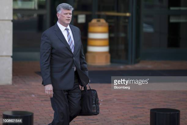 Kevin Downing lead lawyer for former Trump Campaign Manager Paul Manafort exits District Court in Alexandria Virginia US on Tuesday July 31 2018 The...