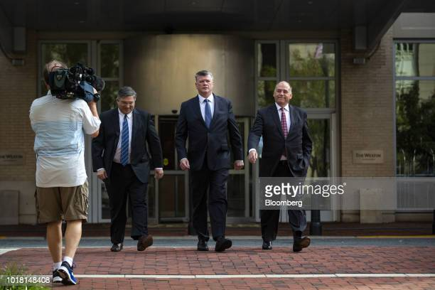 Kevin Downing lead lawyer for former Trump Campaign Manager Paul Manafort center Richard Westling cocounsel for Manafort left and Thomas Zehnle...