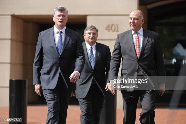 Kevin Downing Richard Westling and Thomas Zehnle attorneys for former Trump campaign chairman Paul Manafort leave the Albert V Bryan US Courthouse...