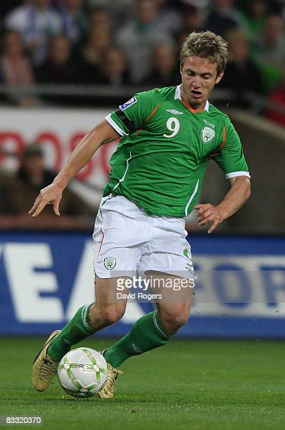 Kevin Doyle of Ireland during the World Cup qualifying match between the Republic of Ireland and Cyprus at Croke Park on October 15 2008 in Dublin...