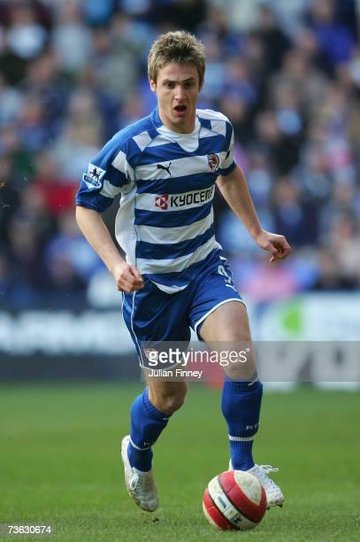 Kevin Doyle of Reading in action during the Barclays Premiership match between Reading and Portsmouth at the Madejski Stadium on March 17 2007 in...