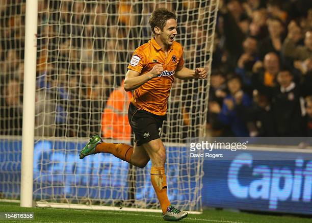 Kevin Doyle of Wolves celebrates after scoring his second goal during the npower Championship match between Wolverhampton Wanderers and Bolton...