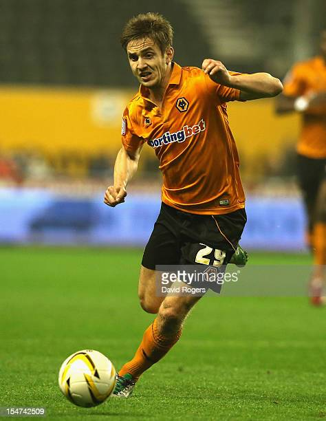 Kevin Doyle of Wolves runs with the ball during the npower Championship match between Wolverhampton Wanderers and Bolton Wanderers at Molineux on...