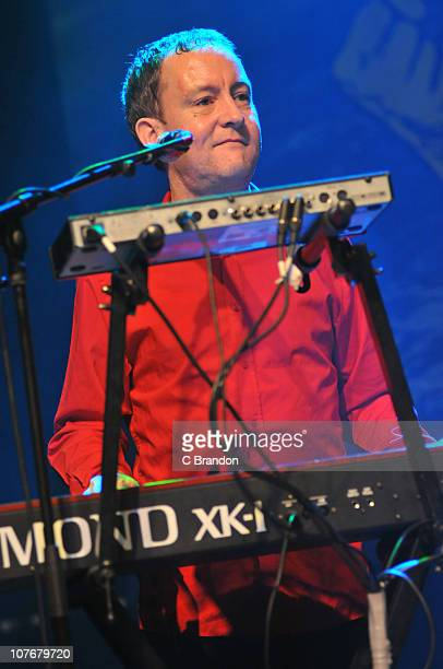 Kevin Duffy of The Saw Doctors performs on stage at Shepherds Bush Empire on December 18 2010 in London England
