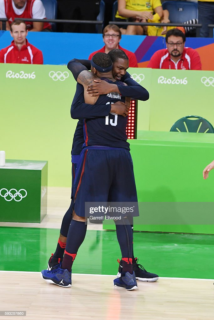 b5d4f9814c8 Kevin Durant and Carmelo Anthony of the USA Basketball Men s ...