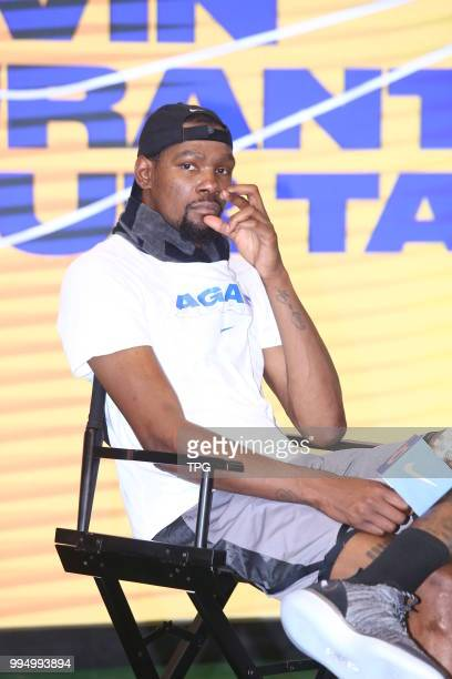 Kevin Durant attends 2018 NIKE basketball tour in Taipei on 09th July 2018 in Taipei Taiwan China