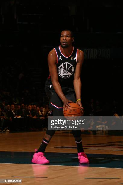 2429f4dd050d Kevin Durant of Team LeBron shoots a freethrow during the 2019 NBA AllStar  Game on February