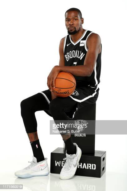 Kevin Durant of the Brooklyn Nets poses for a portrait during media day on September 27 2019 at the HSS Training Center in Brooklyn New York NOTE TO...