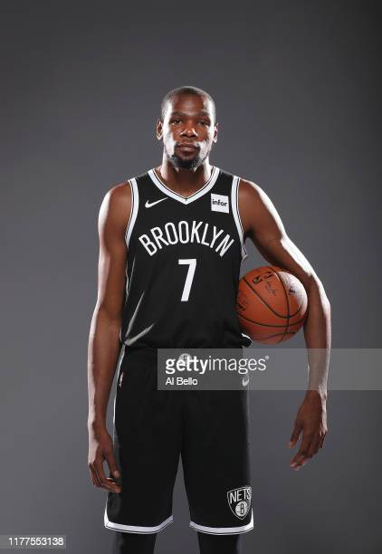 Kevin Durant of the Brooklyn Nets poses for a portrait during Media Day at HSS Training Center on September 27, 2019 in New York City.