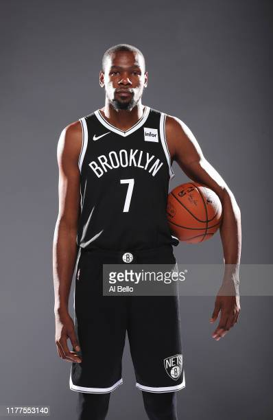Kevin Durant of the Brooklyn Nets poses for a portrait during Media Day at HSS Training Center on September 27 2019 in New York City