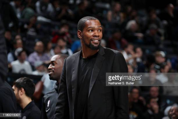 Kevin Durant of the Brooklyn Nets seen during the game against the New Orleans Pelicans on November 4 2019 at Barclays Center in Brooklyn New York...
