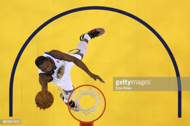 Kevin Durant of the Golden State Warriors drives to the hoop against the Houston Rockets during Game Six of the Western Conference Finals in the 2018...