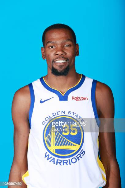 Kevin Durant of the Golden State Warriors during Media Day on September 24 2018 at the Warriors Practice Facility in Oakland California NOTE TO USER...