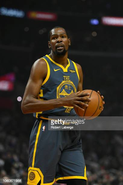 Kevin Durant of the Golden State Warriors during the game against the Los Angeles Clippers on November 12 2018 at STAPLES Center in Los Angeles...