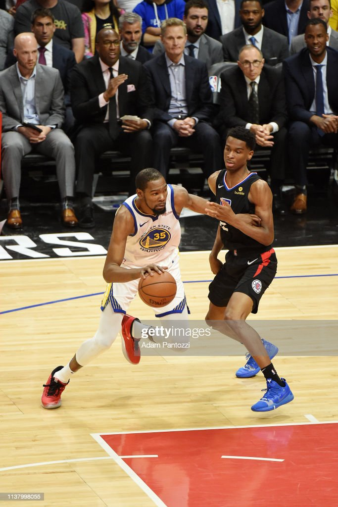 Golden State Warriors v LA Clippers - Game Three : News Photo