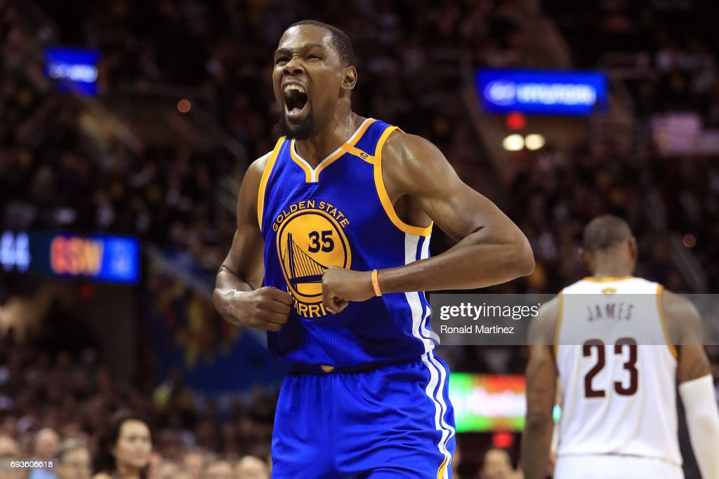 a7d6de545 Kevin Durant  35 of the Golden State Warriors reacts late in the fourth  quarter against