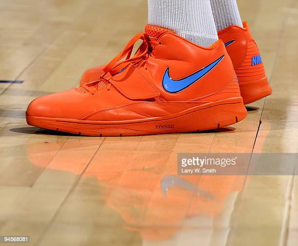 8c9f5813984d Kevin Durant of the Oklahoma City Thunder debuts his new Nike shoes called  Creamsicles during the